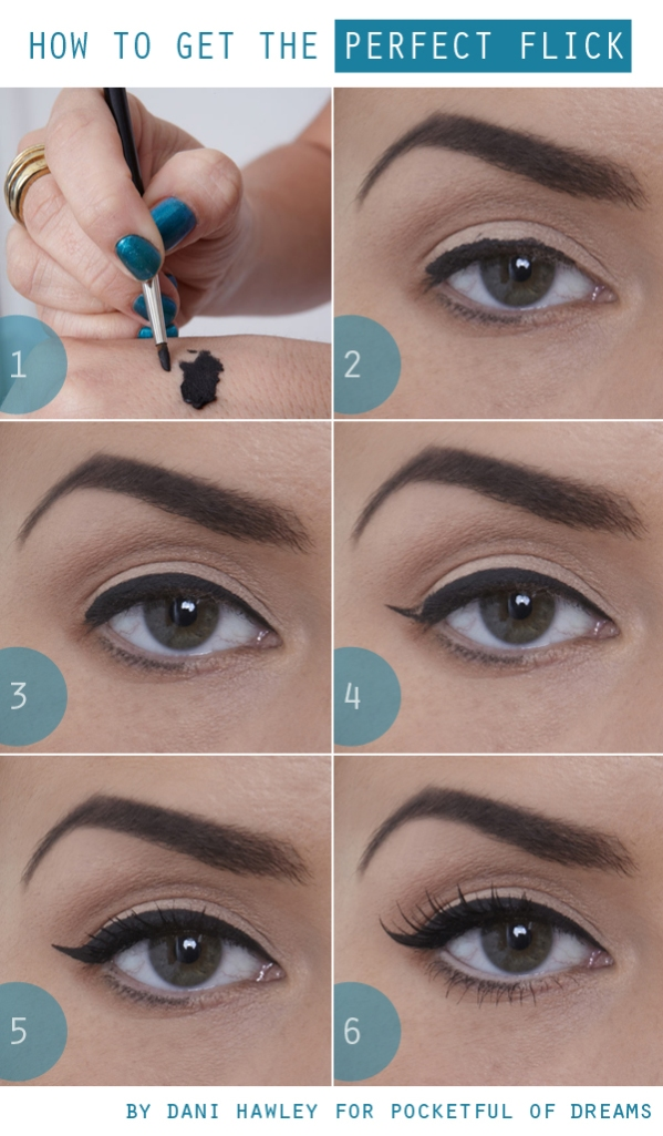Learn how to create the perfect cat eye with the perfect flick!